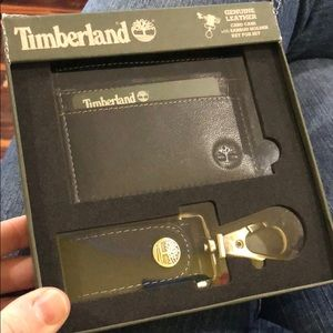 Timberland card case with key fob set